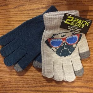 Other - 2 Pair of Boys (Girls too!) Pug Gripper Gloves NEW